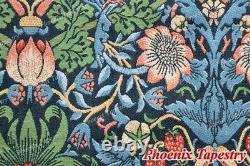William Morris Strawberry Thief Fine Art Wall Tapestries Cotton 100% 55x43, US