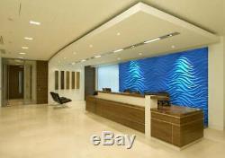 Wind 3D Decorative Wall Panel ABS Plastic Mould Mold Plaster Gypsum DIY Tile