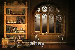 Wizards Library Wall Mural Photo Wallpaper GIANT DECOR Paper Poster Free Paste