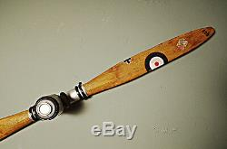 XL WWI Wooden Airplane Propeller 79 Vintage Aviation Wall Decor New