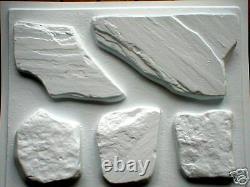 #oaf-02 -five Fieldstone Flagstone Molds Make Concrete Garden Patios, Wall Stone