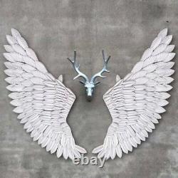 100cm Banksy Large Rustic Angel Wing Wall Mount Hanging Art Bedroom Living Déco