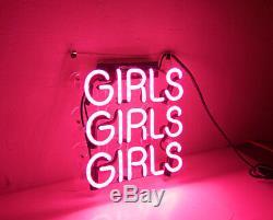 10x10girls Filles Filles Beer Bar Oeuvre D'art Visuel Neon Sign Mur Réel Verre Decor