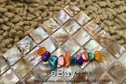 11pcs Shell Perle Colorée Carrelage Mural Mosaïque Cuisine Décoration Murale Dosseret