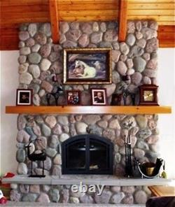 12 River Rock Molds #oor-01 Make 1000s Cement Fireplace & Wall Stones Fast Ship