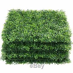 12pcs 20x20 Artificielle Boxwood Tapis Mur Haies Décor Ties Clôture Herbe Panneau
