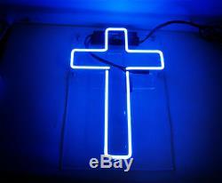 14x7cross Neon Sign Lumière Christianisme Chambre Décorations Pour La Main D'art Sur Mesure