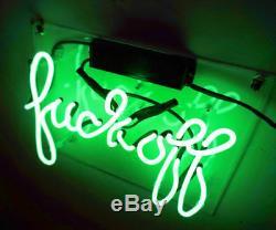 14x9fvck Off Neon Sign Lumière Tiki Bar Pub Accueil Mur Salle Decor Oeuvre D'art Visuel