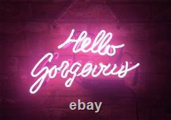 14x9hello Gorgeous Neon Sign Light Store Room Wall Hanging Nightlight Décor