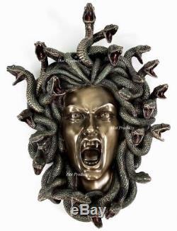 15 Medusa Head Of Snakes Mur Gothique Décor Plaque Statue Bronze Terminer