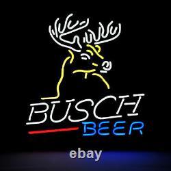 17x14busch Beer Neon Sign Light Tiki Bar Pub Wall Decor Handcraft Art Visuel