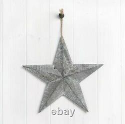 19cm Grey Rustic Wooden Amish Barn Star Wood Wall Hanging Decoration Home Décor