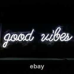 19x7good Vibes Neon Sign Light Tiki Bar Pub Mur Suspendu Décor D'art Visuel