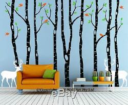 260x360cm Renne Arbre Oiseaux Forestiers Mur Durites Enfants Art Décor De Nurserie