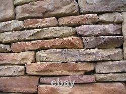 32 Moules En Placage En Béton Ledgestone Font 1000s De Wall Stones Fast Ship
