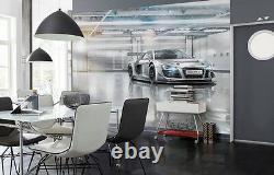 368x254cm Géant Mur Mural Photo Papier Peint Audi R8 Chlildrens Voiture De Décoration Chambre