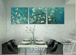 3 50x50x3cm Van Gogh Almond Blossom Giclee Prints Mur Toile Wall Art Décor Au