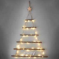 40 Chaud Blanc Led Lights Wall Hanging Christmas Twig Tree Noël Décoration -64cm