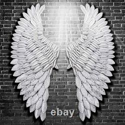 40'' Large Rustic Angel Wing Wall Mount Hanging Art Home Living Decor Royaume-uni