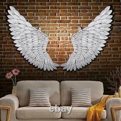 40' Paire De Grand Mur Rustique D'aile D'ange Mount Hanging Canvas Art Bedroom