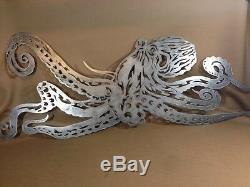 41 Octopus Décoratif Mur Métal Art Hanging Home Decor Sea Sculpture Vie