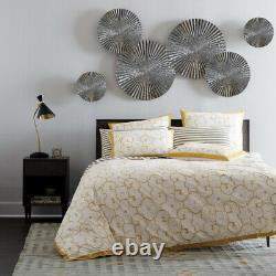 6 Pcs Finition Miroir Sunburst Aluminium Mur Sculpture Murale Décorative Art Hanging