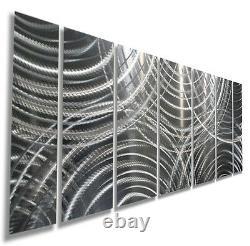 Abstract Modern 3d Metal Wall Art Silver Contemporary Decor Par Jon Allen