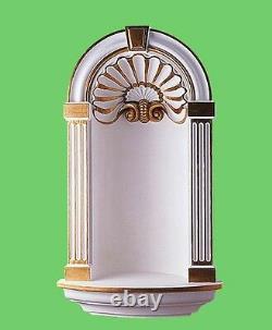 Afficher Niche Magnifique Sanctuaire Porte- Statue De Mur Orné Picture Stand Gold -cr3