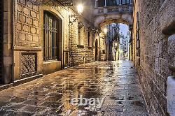 Alleyway Photo Wallpaper Mural Archway Brick Street Home Room Wall Décor