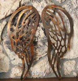 Angel Wings Cuivre / Bronze Plaqué Métal Mur Décor Grand 30 De Haut