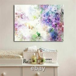 Aquarelle Dream Garden Stretched Canvas Print Framed Wall Art Painting Décor