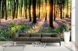 Arbre Plante Fleurs Mural Forêt Photo Fond D'écran Chambre Décoration