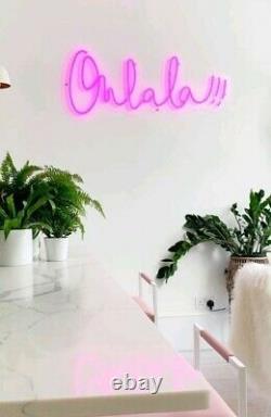 Art Neon Light Sign Oh La La Lampe Décoration Murale Personnalisés Publicité