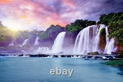 Banyue Waterfall Mural Photo Fond D'écran Giant Decor Poster Papier Collé Gratuit