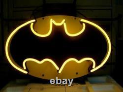 Batman Comics Neon Enseigne Lumière 14x10 Mur Décor Lampe Affichage Homme Cave Verre