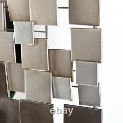 Big Metal Sculpture Abstract Modern Silver Wall Art Contemporain Modern Decor
