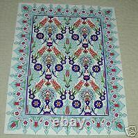 Bleu Clair 32x24 Turc Ottoman Iznik Design Ceramic Tile Panel Mural