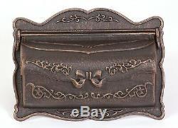 Bwm-r Better Box Boîtes Aux Lettres Cast Décoratif En Aluminium Support Mural Boîte Aux Lettres Bronze