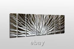 Changement De Couleur Led Modern Abstract Metal Wall Art Sculpture Painting Decor Rgb
