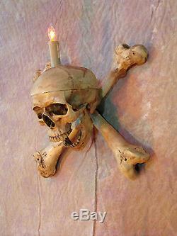 Crâne Fémur Os Wall Sconce, Halloween Prop, Crânes