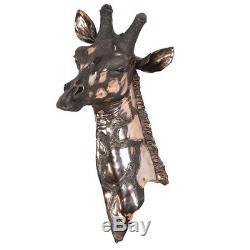 Cuivre Tête De Girafe Ornement Décor Mur / Décoration Intérieure