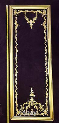 Décor Français Style Antique Louis XV Gilt Ou Panneau De Lambris Muraux Blancs