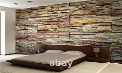 Décor Stone Wall Mural Photo Wallpaper Giant Decor Paper Poster Free Paste