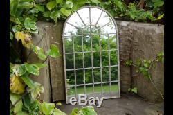 Décoratif Gothique Arquéesles Jardin Mur Miroir Vert / Brun Métal Large / Medium