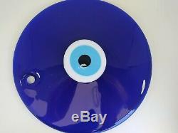 Décoratif Turc Extra Large Mal Glass Eye Perle Big Amulette Éponte 24cm