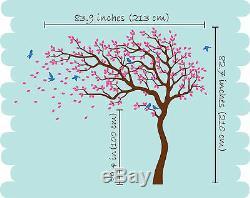 Décoration Énorme Mur De Pépinière Autocollant De Mur D'arbre Décalcomanies Grande Peinture Murale Arbre Kr047