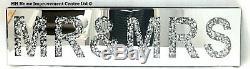 Diamant Crush Sparkly Argent Mirrored Mr & Mrs Décoratifs Décoration Murale Suspendue Art
