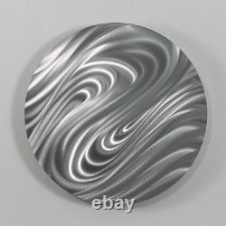 Dynamic Design Résumé Silver Metal Wall Art Rond Décor Par Jon Allen Magnetize