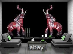 Elephant Statue Wall Mural Photo Wallpaper Giant Wall Decor Paper Poster