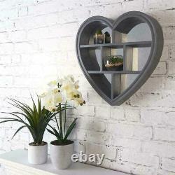 Étagère Flottante Grey Heart 6 Compartiment Mur Mountable Étagère Murale Décorative